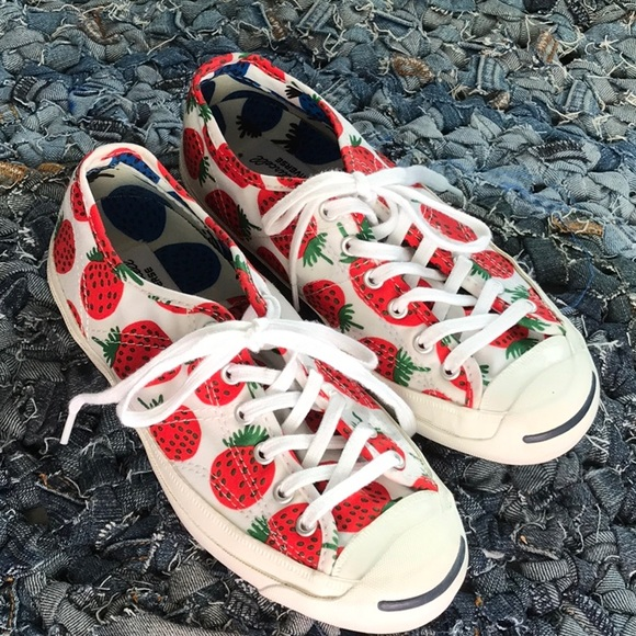 fe9eb4da86be Converse Shoes - Marimekko Converse Strawberry print